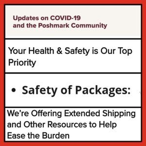 COVID-19 Poshmark updates safety of Packages